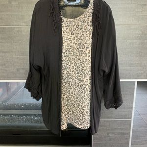 Z Supply Tops - Distressed Leopard T-shirt
